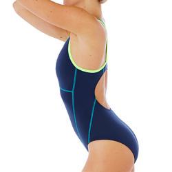 Maillot de bain de natation une pièce femme Kamiye+ bleu vert