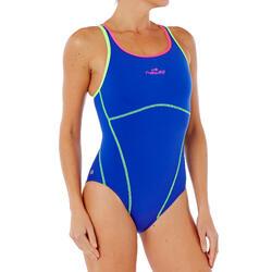 Bañador Entrenamiento Natación Piscina Nabaiji Kamiye Mujer Espalda O Fluor