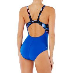 Bañador de natación una pieza mujer resistente al cloro Kamiye Rosa