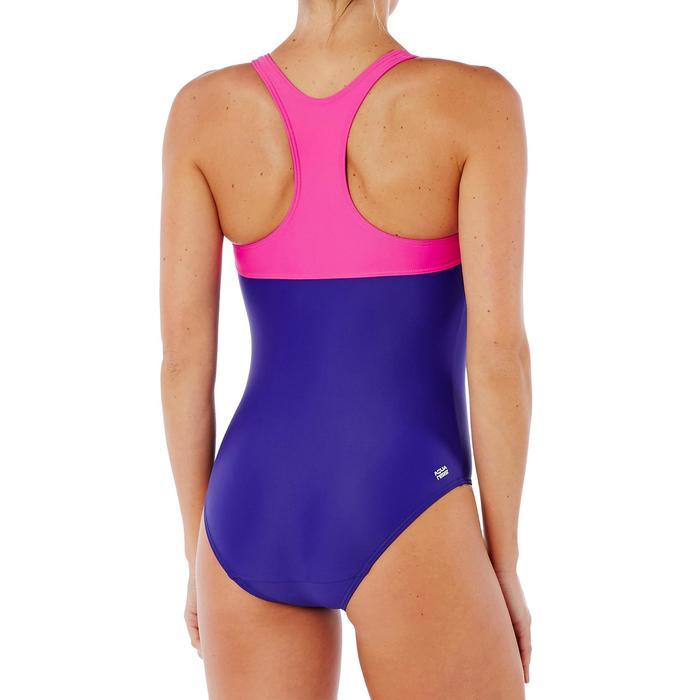 Maillot de bain de natation une pièce femme résistant chlore Leony bleu rose - 1338055
