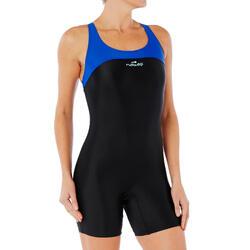 Women Swimming costume shorty - Blue black