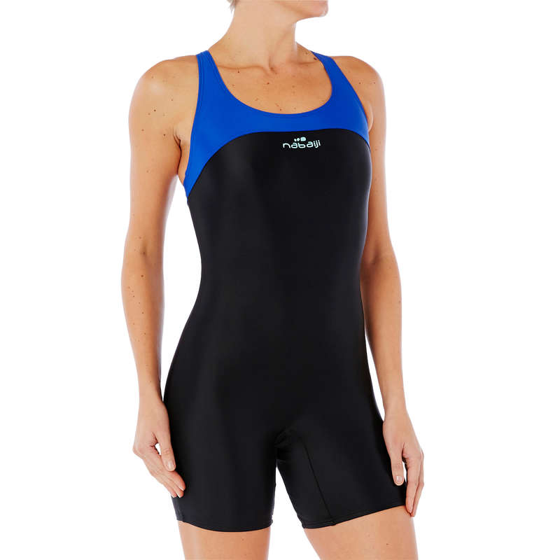 WOMEN'S SWIMSUITS Swimming - LEONY SHORTY 1P SWIMSUIT BLACK NABAIJI - Swimwear