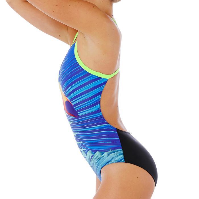 Maillot de bain de natation une pièce femme résistant au chlore Lidia bleu navy - 1338061