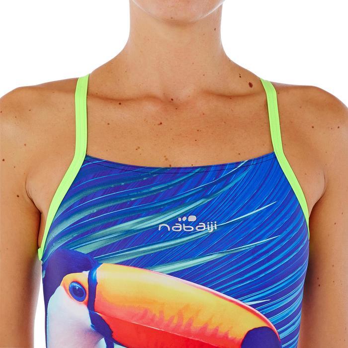 Maillot de bain de natation une pièce femme résistant au chlore Lidia bleu navy - 1338063