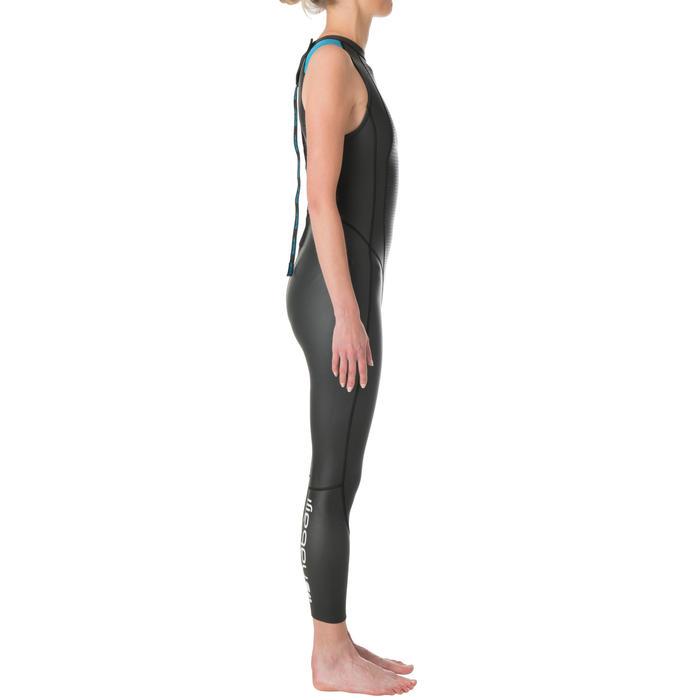 Neopreen wetsuit voor zwemmen in open water dames OWS 500 mouwloos 2/2 mm