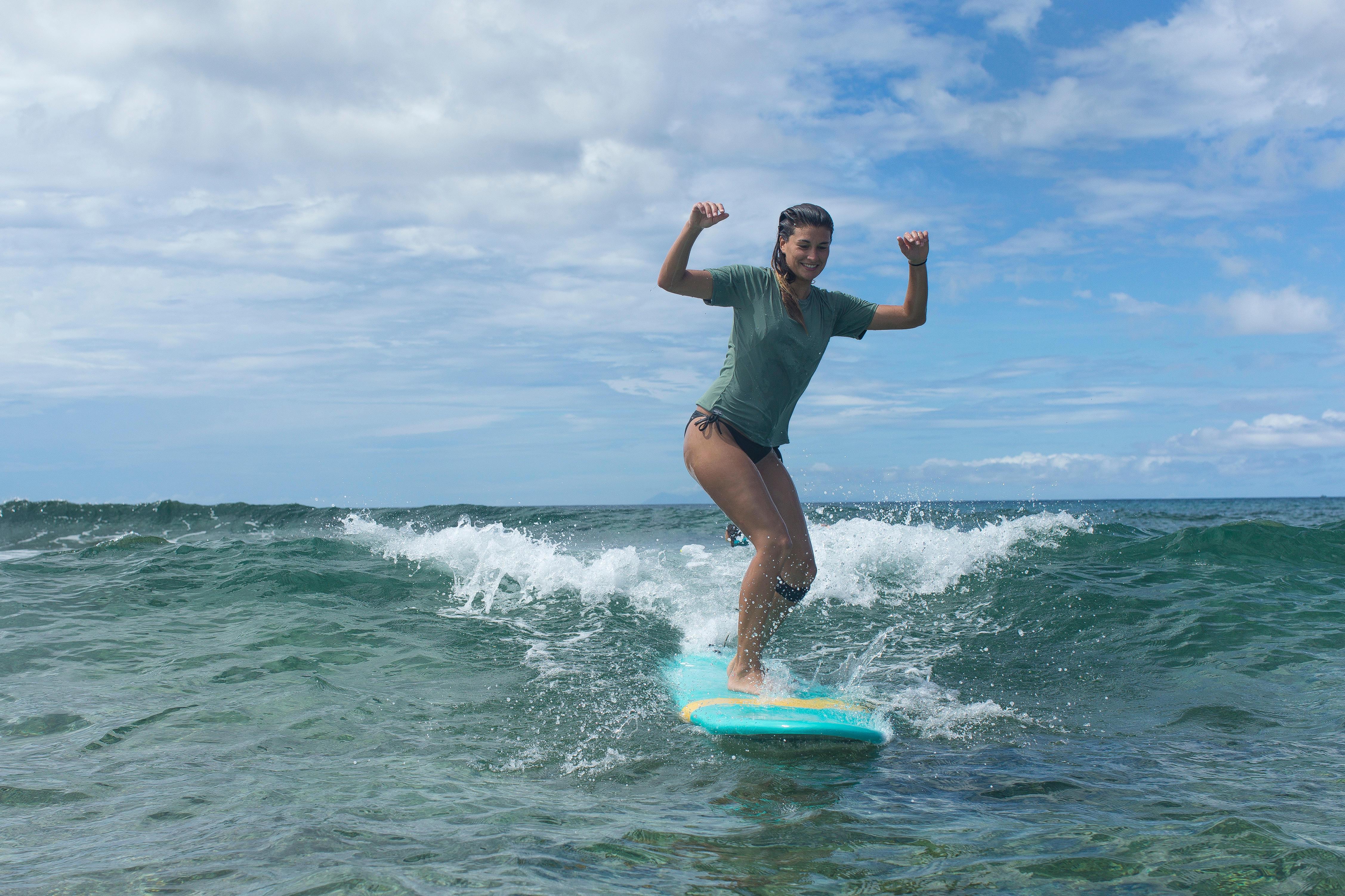Bas de maillot de bain de surf femme nouée côté SOFY  NOIRE