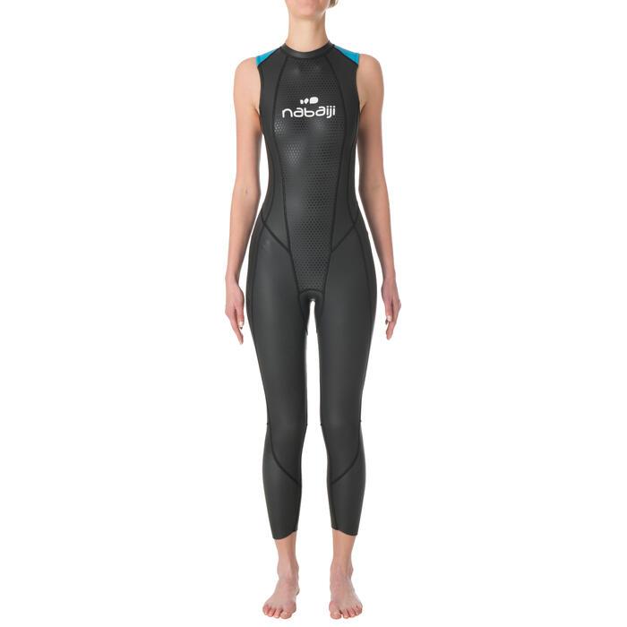 Traje de natación sin mangas neopreno OWS500 2,5/2 mm mujer aguas templadas