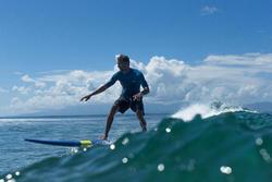 Bermuda de surf Boardshort largo hendaia negro