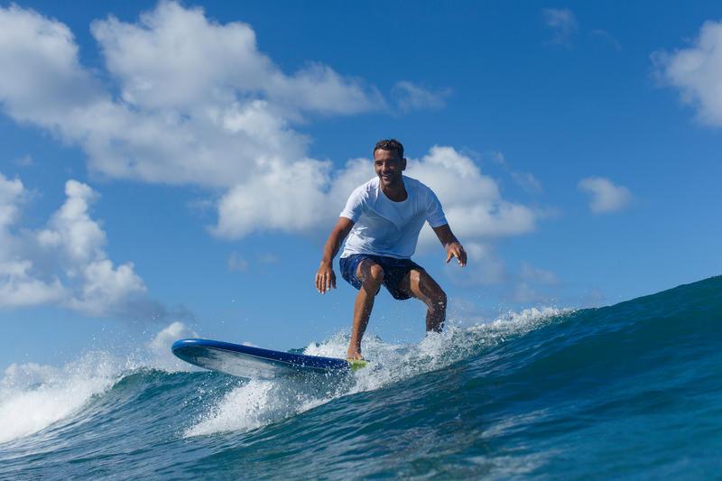 กางเกงชายหาดขาสั้นรุ่น Hendaia (สีน้ำเงิน NT)