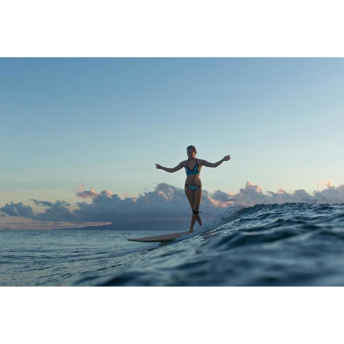 Top Bikini Surf Sujetador Transparencias Olaian Ajuste Espalda Isa Mujer Marina