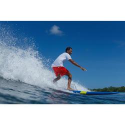 Korte boardshort voor surfen Hendaia NT rood