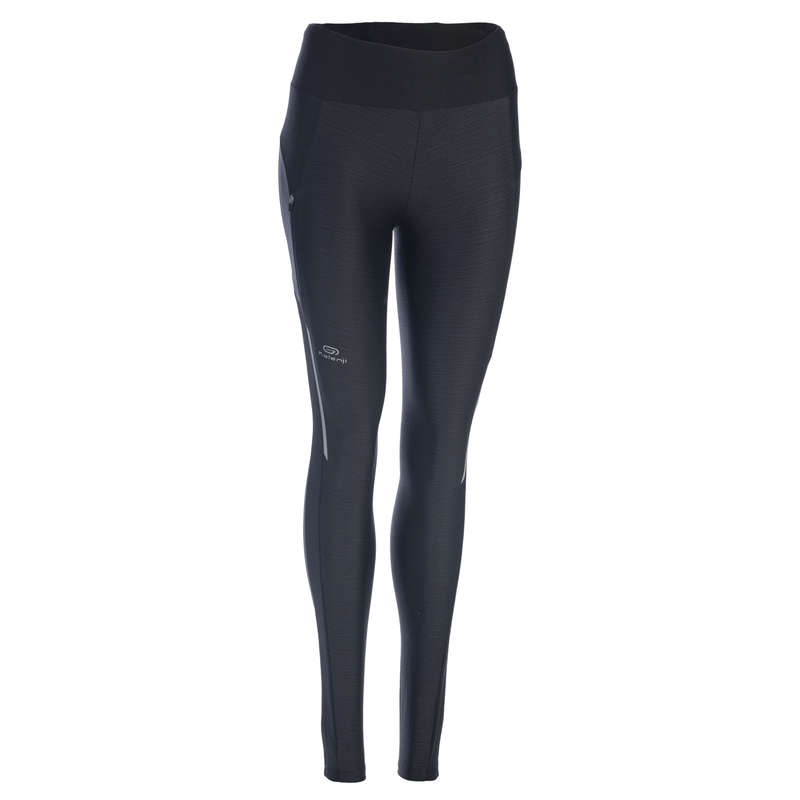 REGULAR WOMAN JOG WARM/MILD WHTR CLOTHES Clothing - Women's Tights Run Dry+ KALENJI - Bottoms