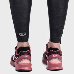 Mallas Térmicas Leggings Deportivos Running Kalenji Run Dry+ Mujer Negro