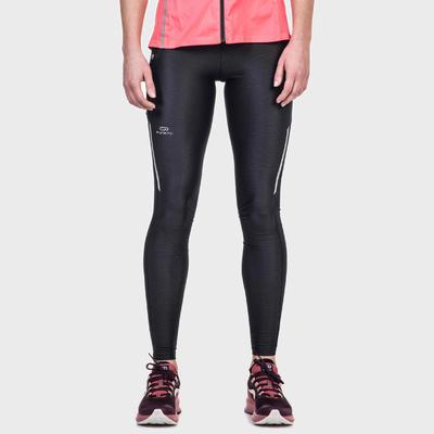 Women's Jogging Tights Run Dry+ - Mottled Black