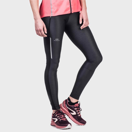 COLLANT JOGGING FEMME COURSE AU SEC+ NOIR CHINÉ