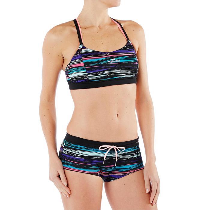Uiterst chloorbestendig bikinibroekje Meg voor aquafitness Stri zwart