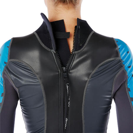 OWS100 Women's 1/0 mm Temperate Water Neoprene Swimming Wetsuit