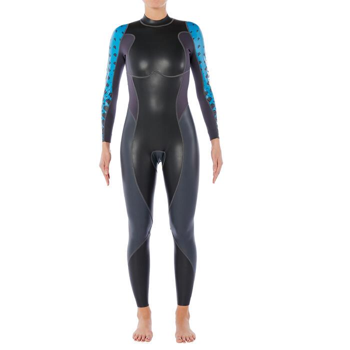 Neopreen wetsuit voor openwaterzwemmen dames OWS 100 1/0 mm gematigd water