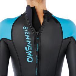Neopreen dameswetsuit voor zwemmen OWS500 2,5/2 mm gematigd warm water