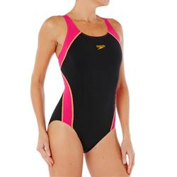 Damesbadpak Splice zwart/roze