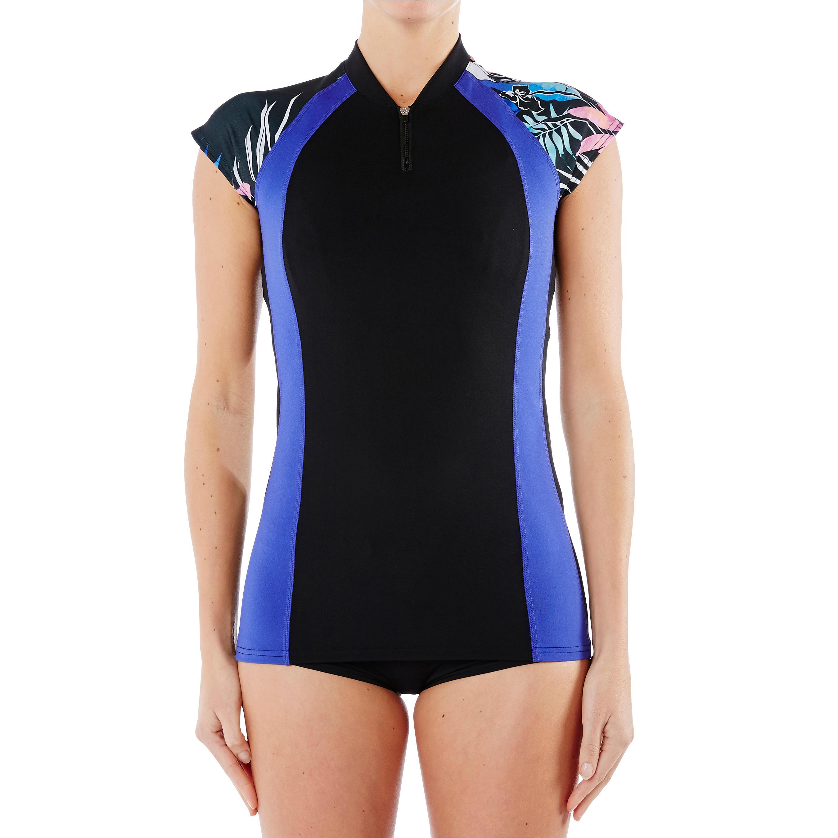 Women Aquagym Top Anna- Black Blue