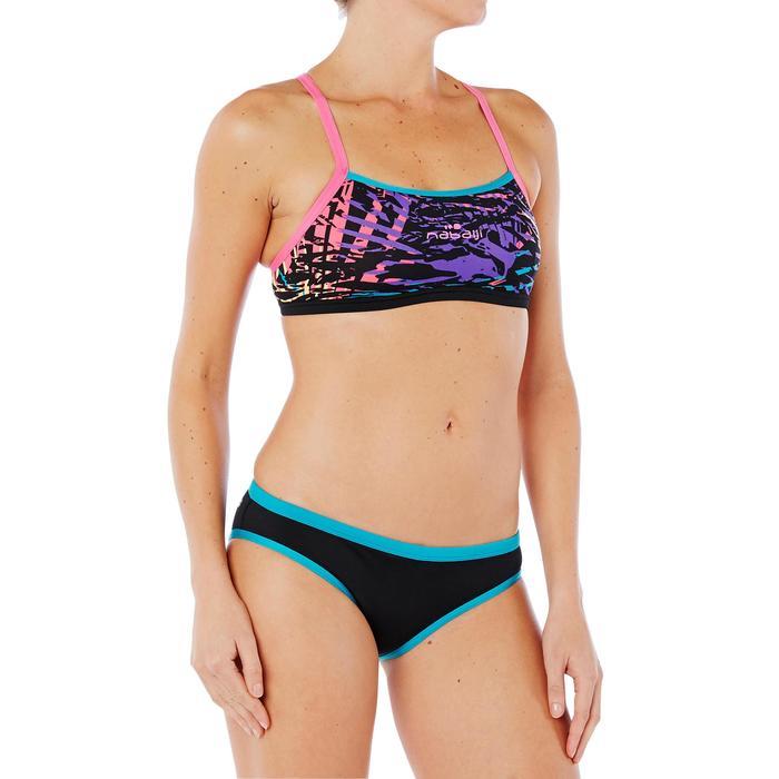 Sujetador-top de natación mujer ultra resistente al cloro Jade jun Naranja
