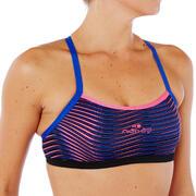 Brassiere-top de natación mujer ultra resistente al cloro Jade vib Rosa