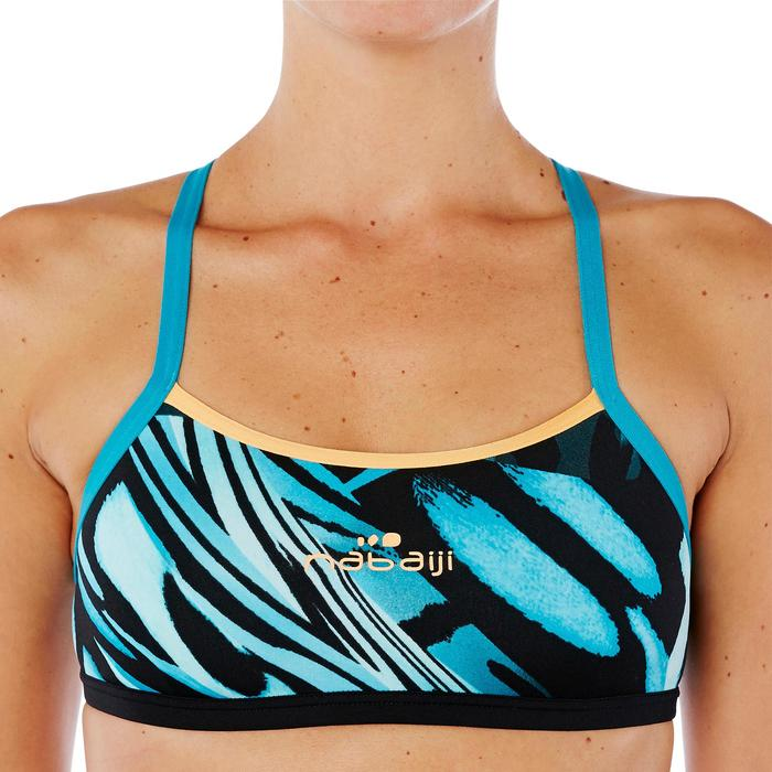 Sujetador-top de natación mujer ultra resistente al cloro Jade wing Verde