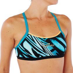Brassière de natation femme ultra résistante au chlore Jade vib