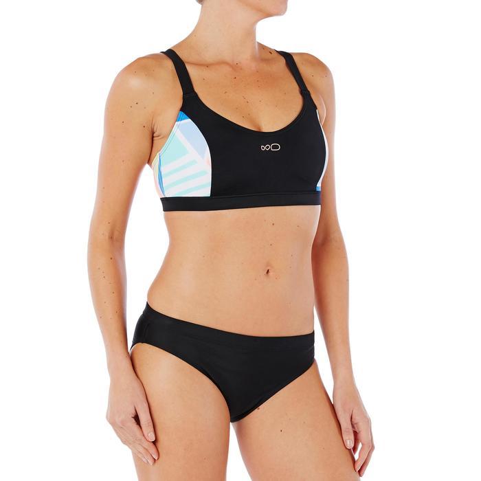 Sujetador de bikini de natación para mujer Vega Negro Rosa