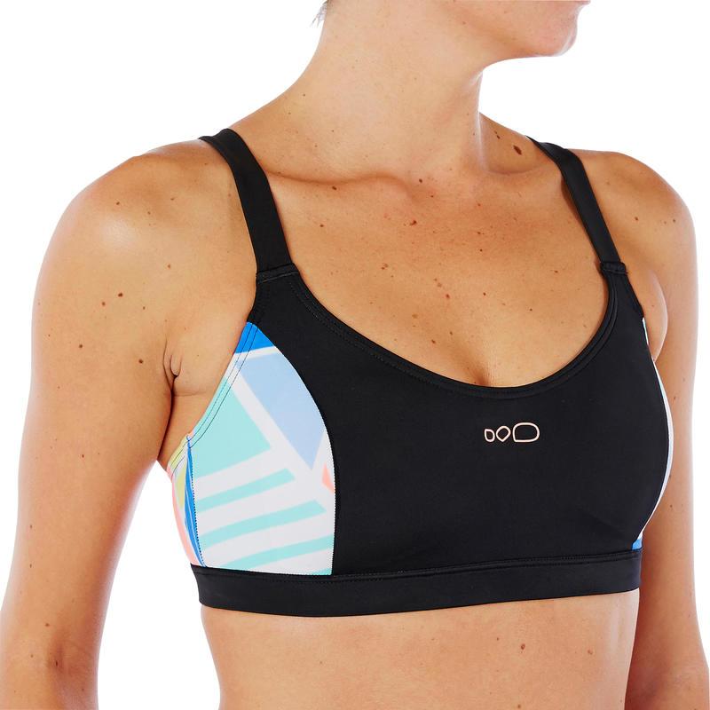 1e6f6217bd88 Sujetador de bikini de natación para mujer Vega Negro Rosa