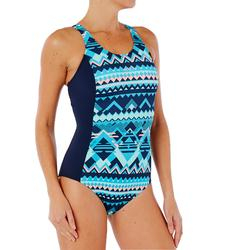 Bañador de natación una pieza para mujer Vega azul