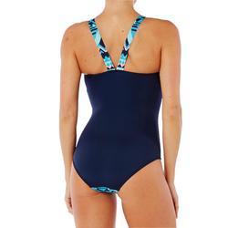 Maillot de bain de natation femme une pièce Vega bleu