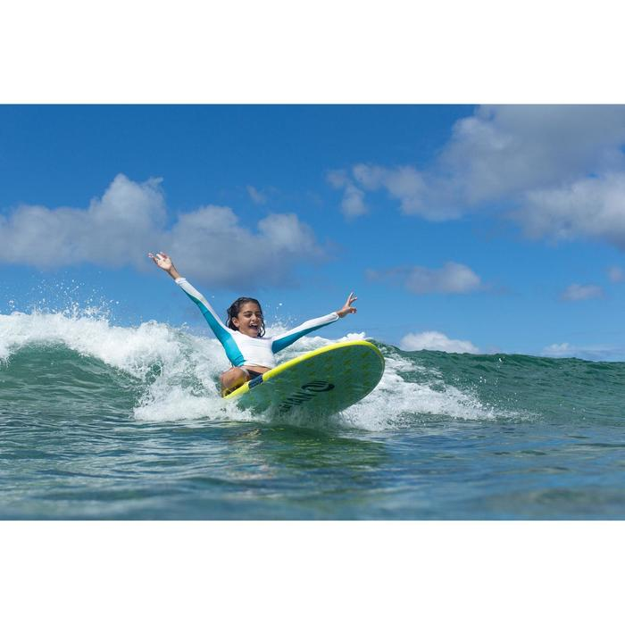 Foam surfboard 6' 100. Geleverd met een leash en 3 vinnen.