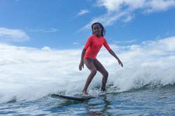 UV-Resistant 100 Children's Short-Sleeved Surfing T-Shirt - Pink