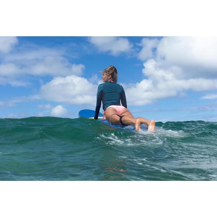 Uv-werende rashguard 500 met lange mouwen voor dames blauw met print - 1338395