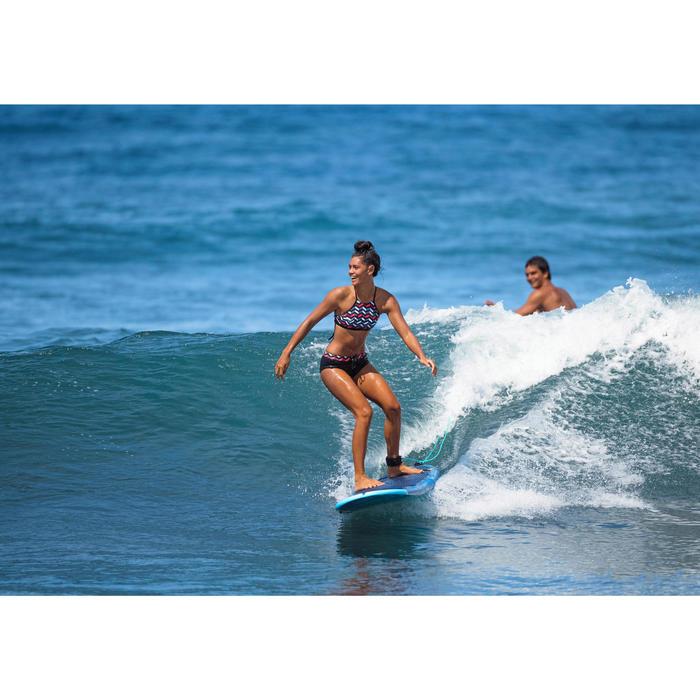 Planche de surf en mousse 500, 8'. Livrée avec un leash et 3 ailerons. - 1338404