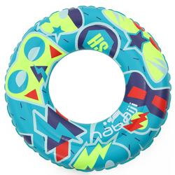 Kids' Inflatable Swim Ring 6-9 Years 65 cm - Green and Yellow
