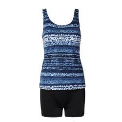 Loran Women's One-Piece Tankini Swimsuit - Tidy Blue