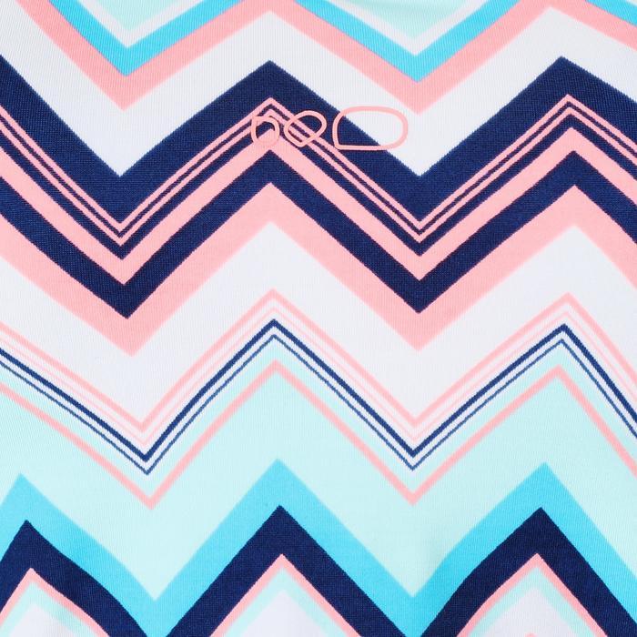 Loran 女士U形背帶假兩件連身平口游泳裝- Evro 粉紅色
