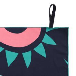 印花微纖維毛巾,L號 - 綠色粉紅色