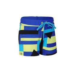 100 PEP BOYS' BOXER SWIM SHORTS - BLACK/BLUE