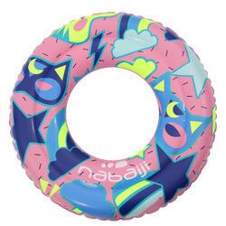 兒童充氣游泳圈6-9 歲65cm-粉色和藍色