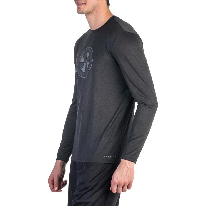 Ball Long-Sleeved Basketball Jersey - Dark Grey