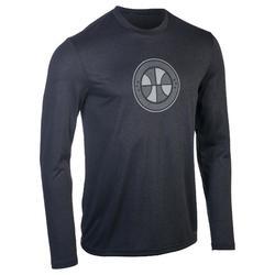 Fast Intermediate Long-Sleeved Basketball T-Shirt - Dark Grey