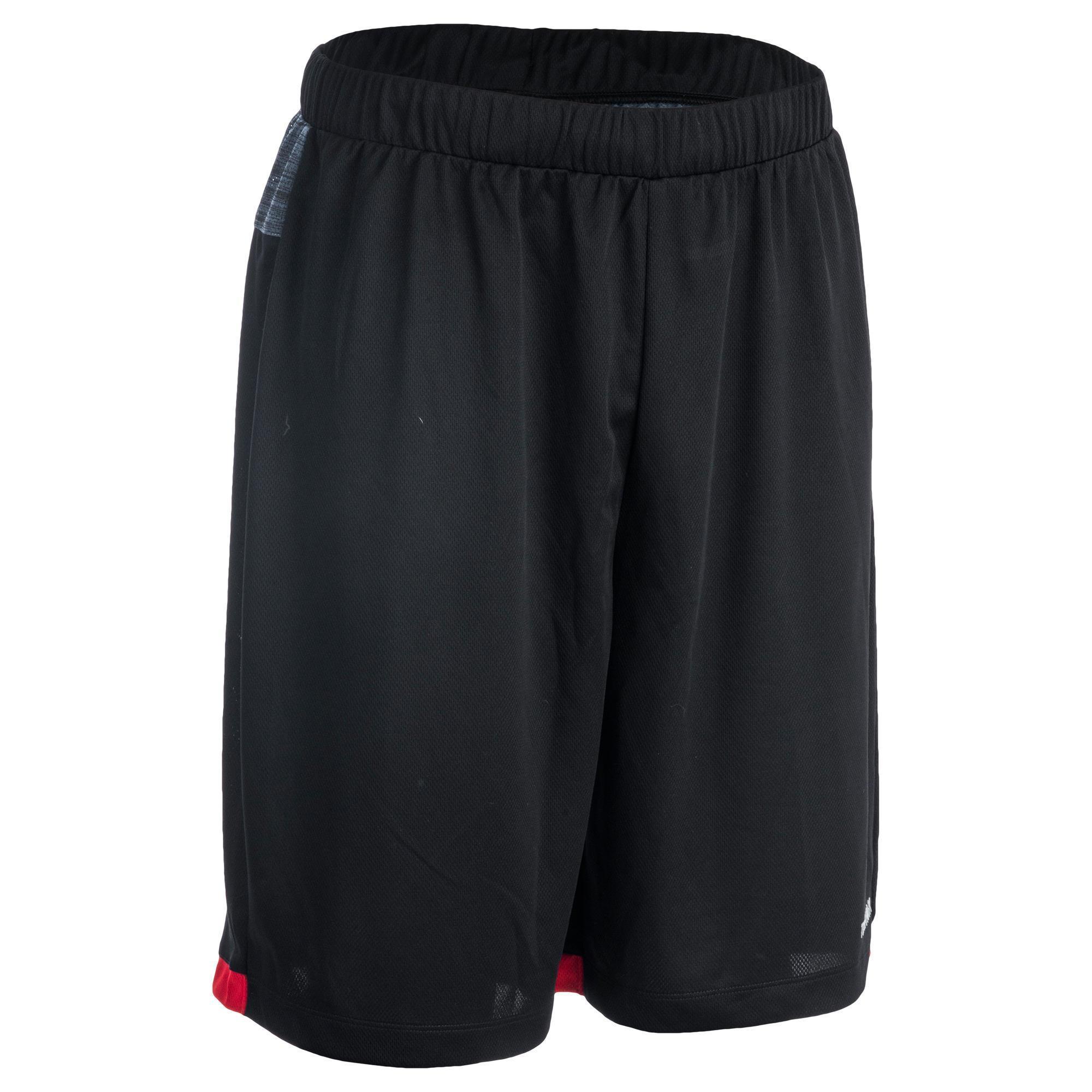 Basketballshorts SH500 Herren Fortgeschrittene schwarz/rot | Sportbekleidung > Sporthosen > Basketballshorts | Schwarz - Rot | Tarmak