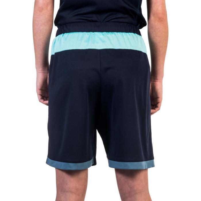 Basketbalshort SH500 voor halfgevorderde dames marineblauw turquoise