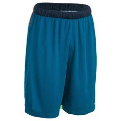 SHORT SH500 DE BASKETBALL POUR HOMME CONFIRME BLEU/JAUNE DIGITAL