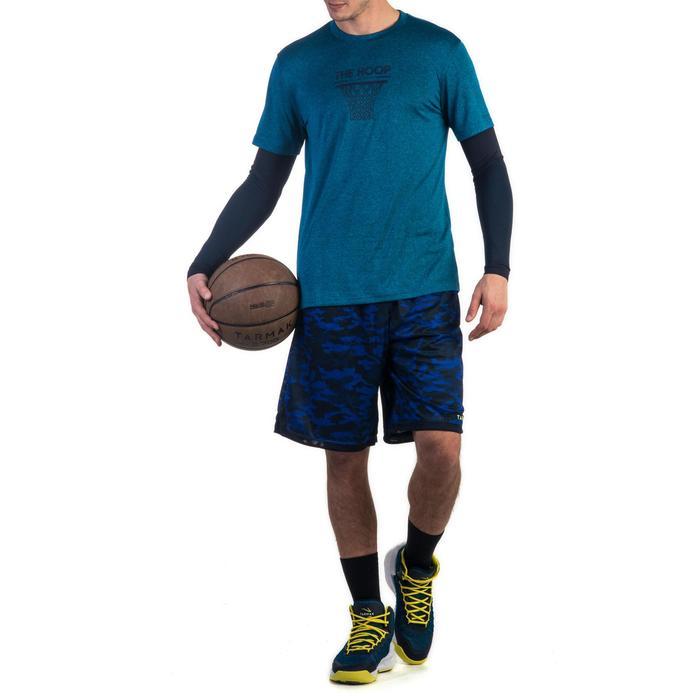 Basketball-Wendeshorts Herren schwarz/camouflage grau