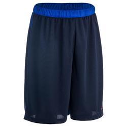 Basketbalshort SH500 voor halfgevorderde heren gemêleerd blauw/blauw
